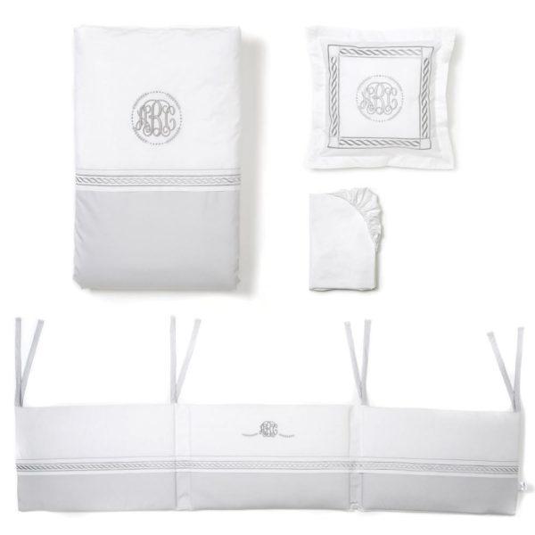 Grey Cot Bed Bedding